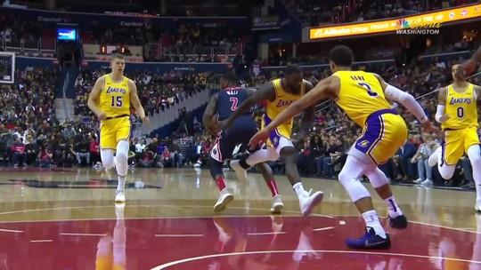 Maestro implacável: John Wall aterroriza os Lakers de LeBron em vitória dos Wizards
