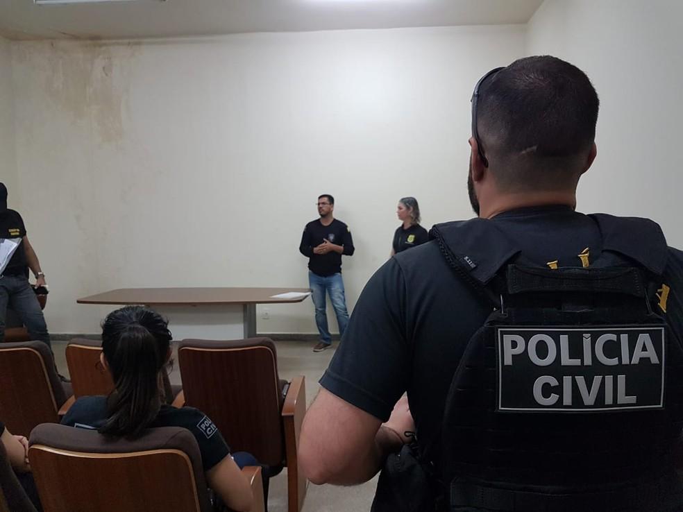 Operação foi deflagrada nesta segunda (22) em 18 estados do Brasil e também na Argentina — Foto: Divulgação/Polícia Civil
