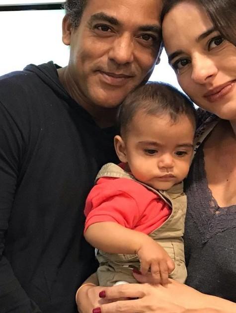 Marcelo Mello, Juliana Brum e João Marcelo (Foto: Reprodução/Instagram)