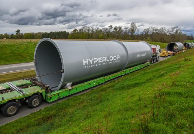 Estrutura que formará o hyperloop em escala real da Hyperloop TT (Foto: Divulgação Hyperloop TT)