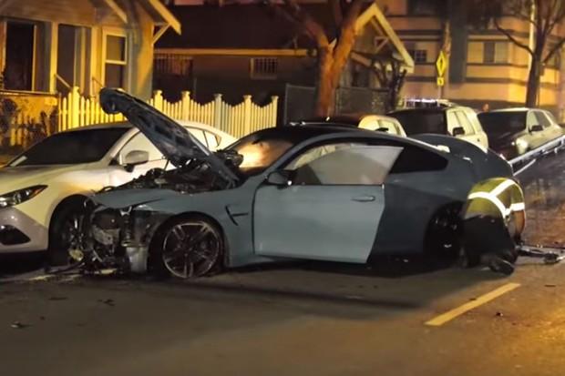 Acidente BMW (Foto: Reprodução Youtube)