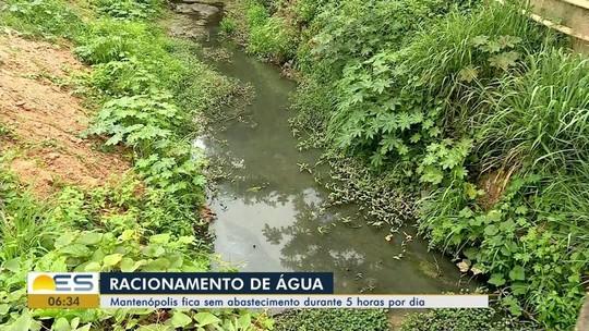 Moradores de Mantenópolis enfrentam novo racionamento de água  no ES