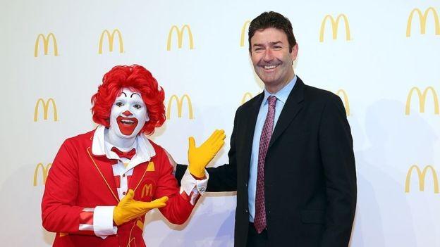 O CEO do McDonald's, Steve Easterbrook, recebeu em 2017 cerca de US$ 21,7 milhões  (Foto: Getty Images via BBC)