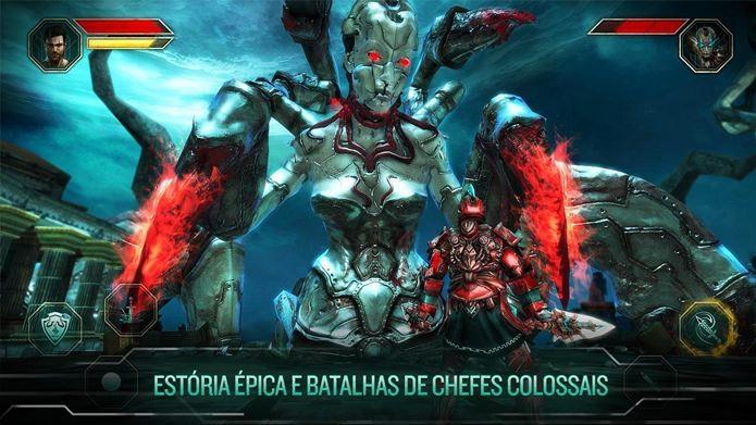 Game claramente inspirado em God of War tem combates grandiosos (Foto: Divulgação)