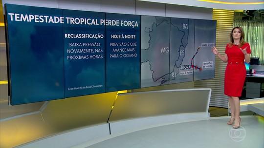 """Marinha diz que tempestade """"Iba"""" vai se deslocar mais para o oceano e vai perder força"""