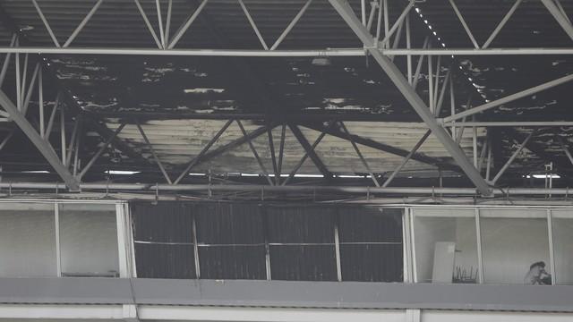 Arena Castelão após incêndio