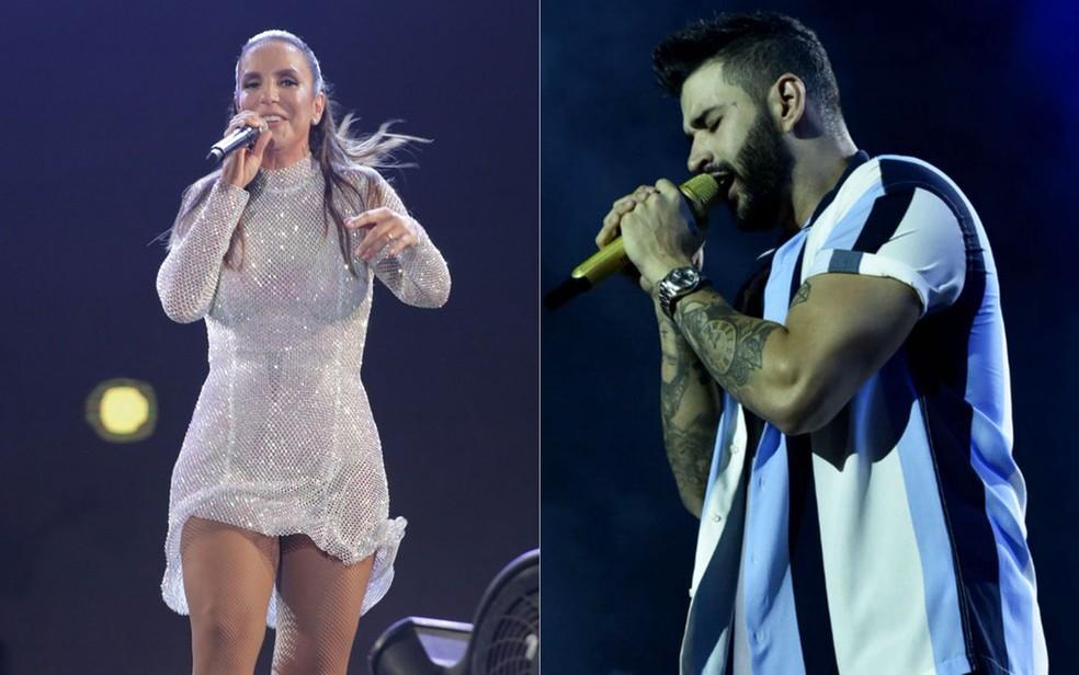 ACM Neto anuncia cancelamento de 'live da virada' com Ivete Sangalo e Gusttavo Lima — Foto: Arte G1