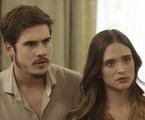Juliana Paiva e Nicolas Prattes em 'O tempo não para' | Reprodução