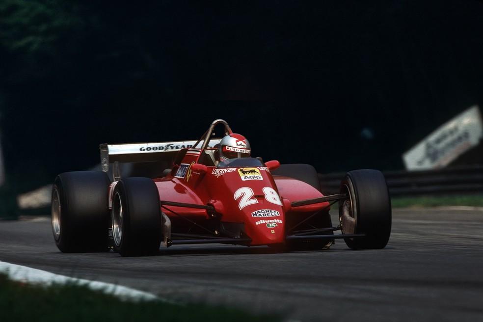 Mario Andretti voltou para a Ferrari em 1982 e fez sua última pole na F1 — Foto: Getty Images