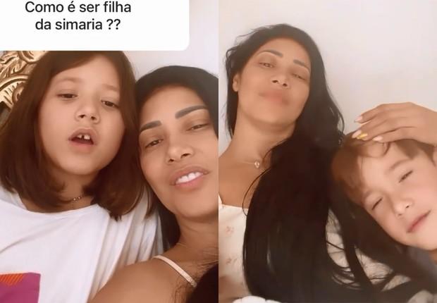 Simaria responde fãs ao lado dos filhos, Giovanna e Pawel (Foto: Reprodução/Instagram)