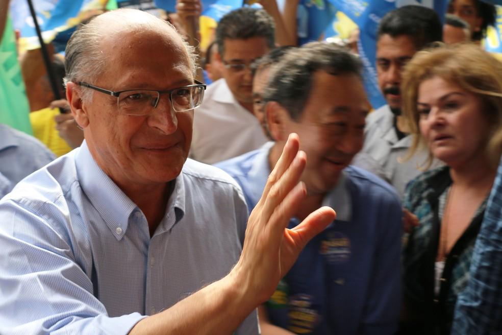 Geraldo Alckmin, candidato a presidente — Foto: CHARLES SHOLL/RAW IMAGE/ESTADÃO CONTEÚDO