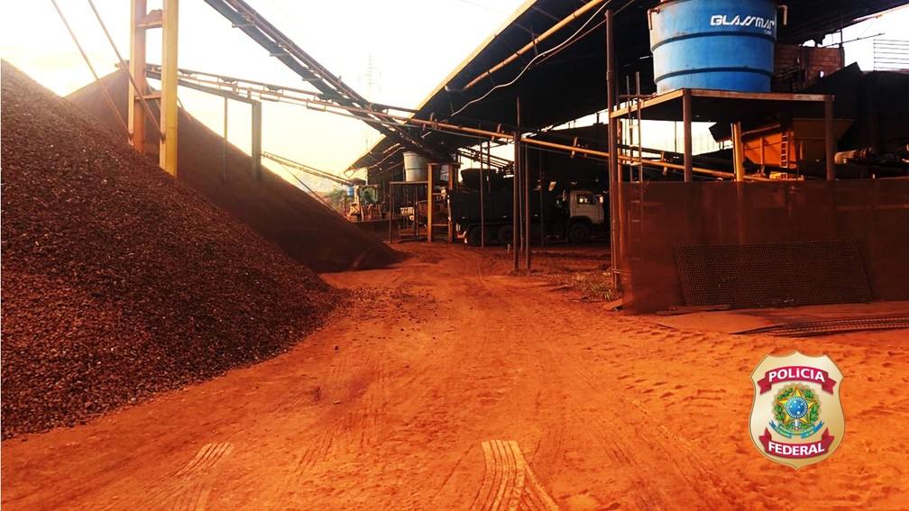 Mineração ilegal é descoberta pela Polícia Federal — Foto: Polícia Federal/Divulgação