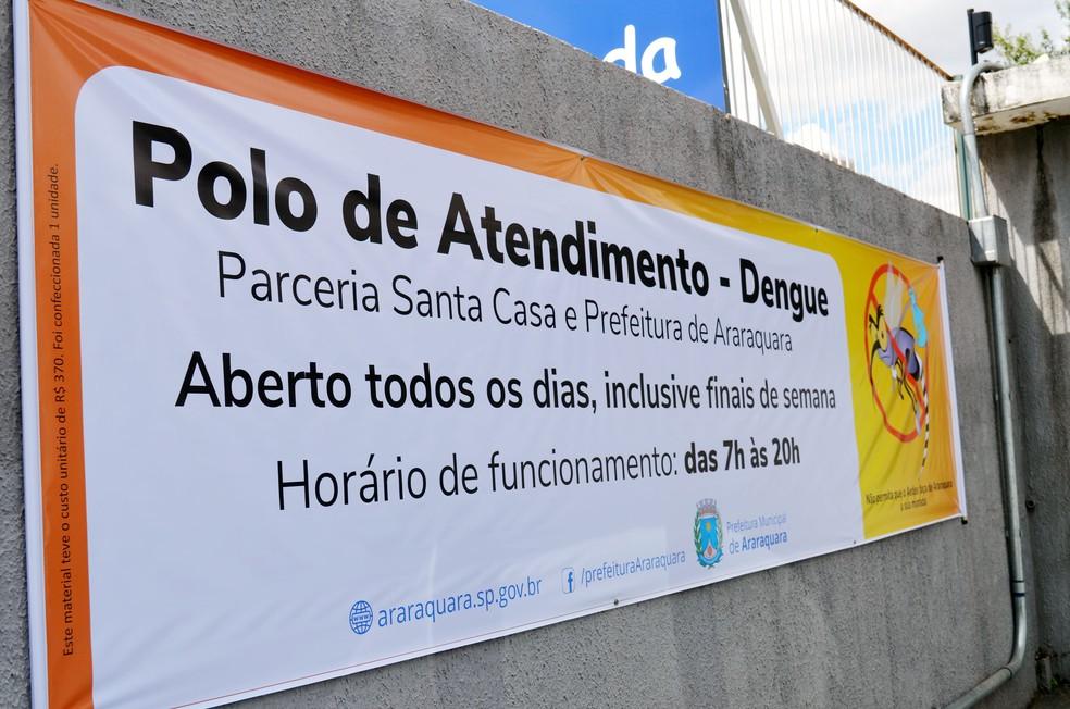 Dengário Rua Voluntários da Pátria Rua 5 Araraquara dengue — Foto: Prefeitura de Araraquara/Divulgação