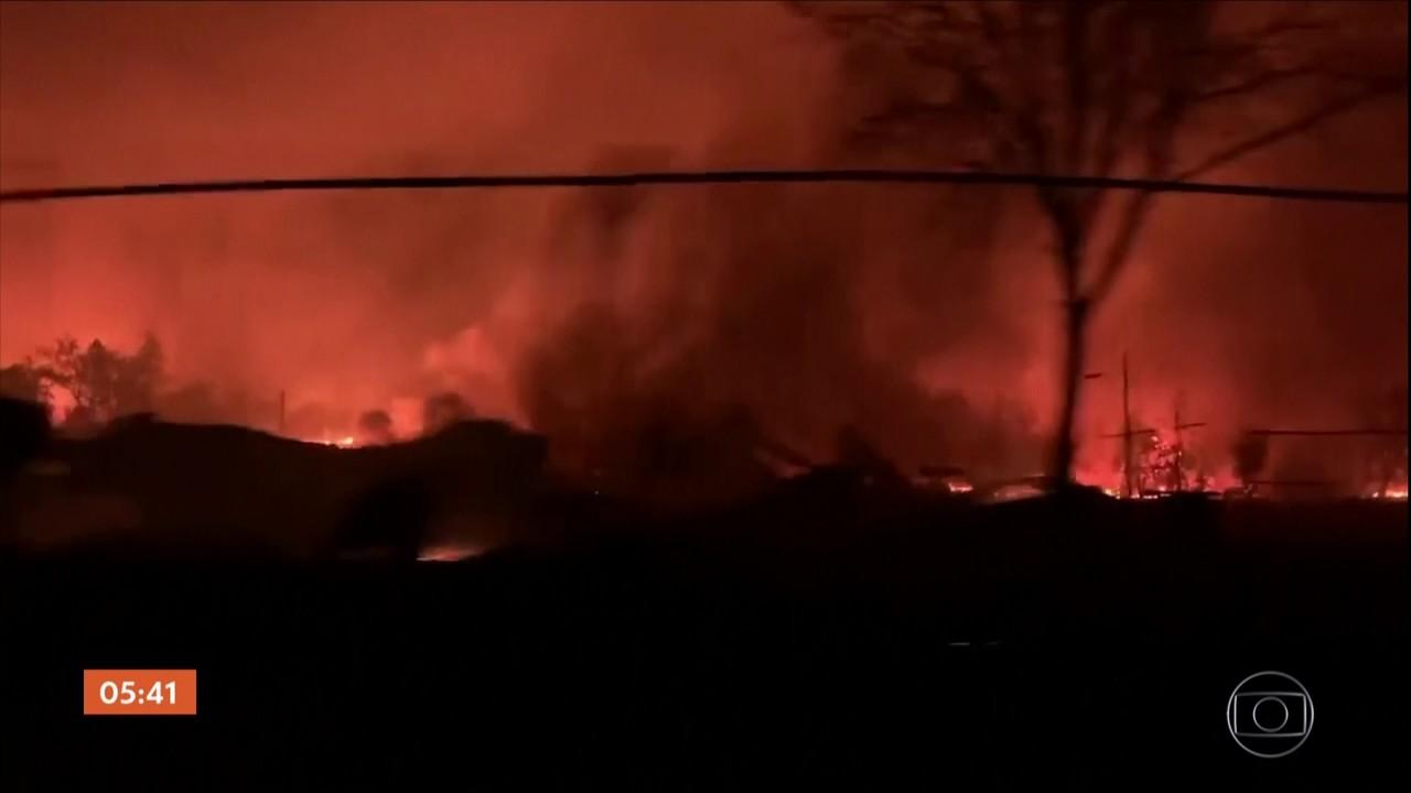 Seis pessoas morrem em incêndios florestais no Oregon, EUA