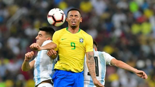 Gabriel Jesus Brasil x Argentina