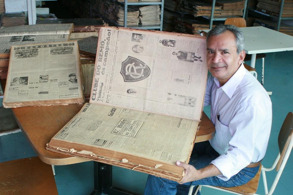 Orlando Ruffeil se tornou uma referência em pesquisas sobre história do Remo — Foto: Marcelo Seabra/O Liberal