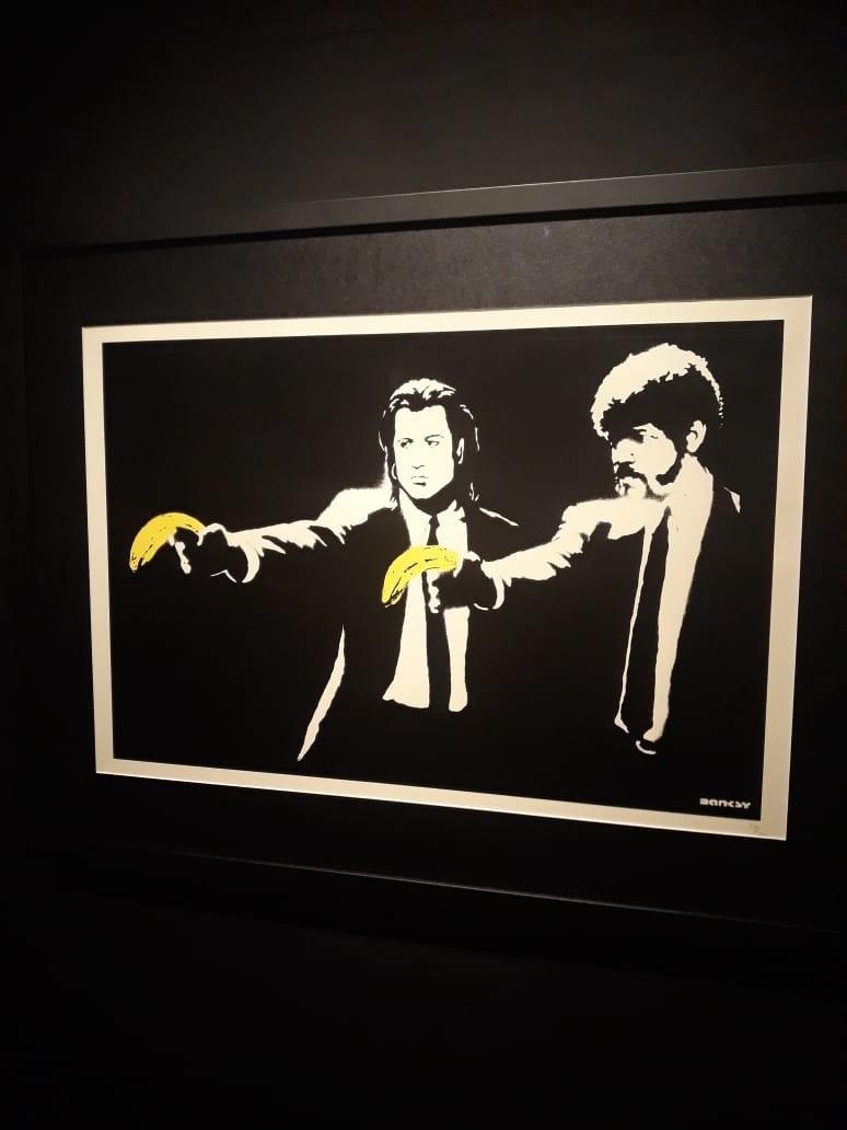 Exposição Banksy em Moscou (Foto: Pedro Carvalho)