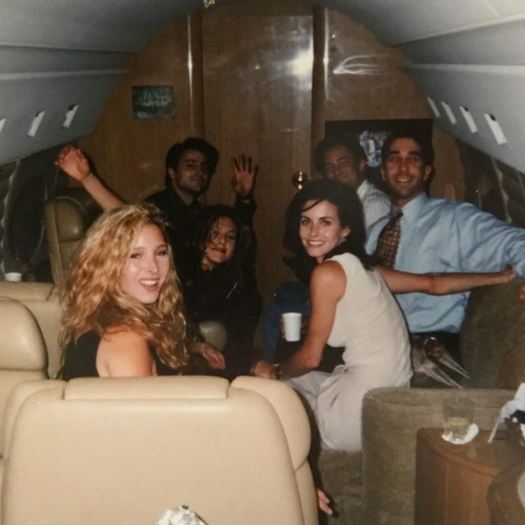 Lisa Kudrow, Matt LeBlanc, Jennifer Aniston, Matthew Perry, David Schwimmer e Courteney Cox (Foto: Reprodução/Instagram)