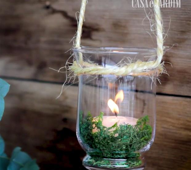 Faça você mesmo velas pendentes para a decoração de Natal (Foto: Casa e Jardim)