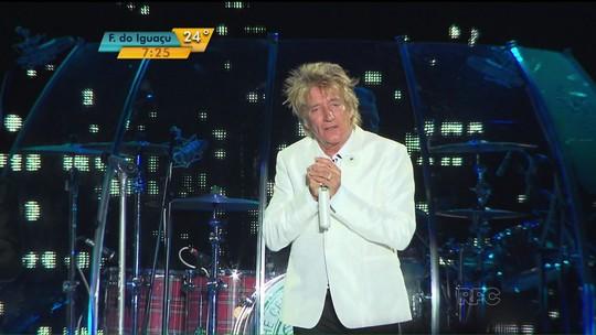 Rod Stewart faz primeiro grande show na Arena da Baixada após obras