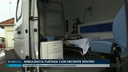Ambulância é furtada com paciente dentro, em Carambeí