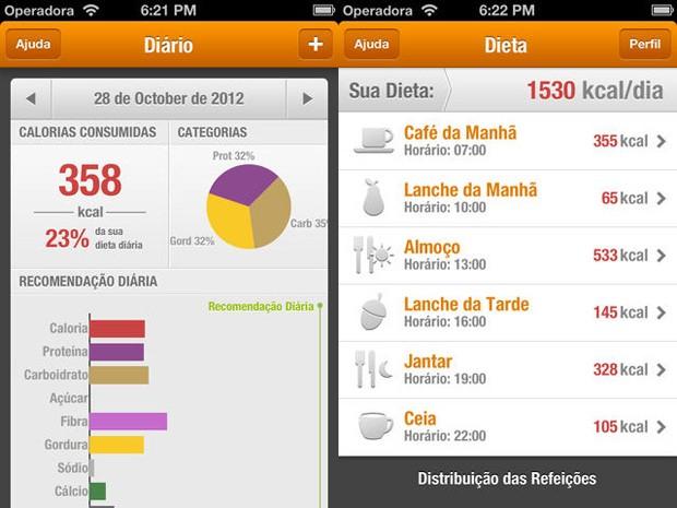 Tecnonutri está entre os aplicativos de dieta mais baixados na loja de aplicativos App Store, da Apple (Foto: Reprodução)