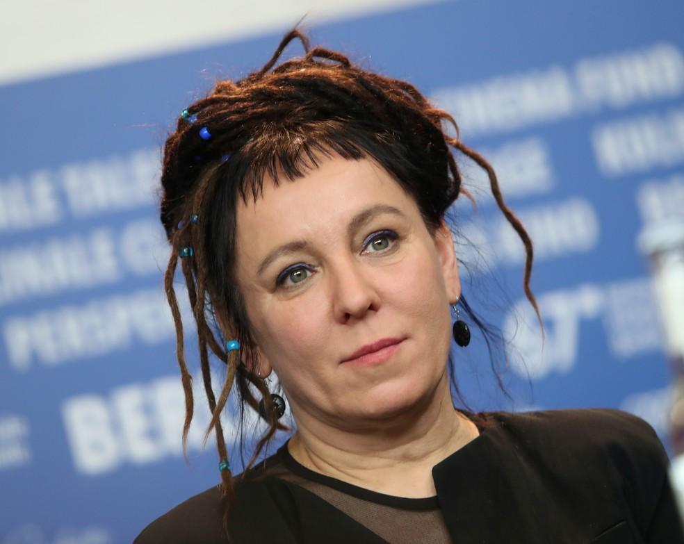 Vencedora do prêmio Nobel de Literatura de 2018, Olga Tokarczuk, anunciado nesta quinta-feira (10) — Foto: Reuters