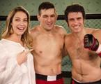 Luana Piovani grava com o lutador de MMA Demian Maia e o ator Eriberto Leão  | Raphael Dias/TV Globo
