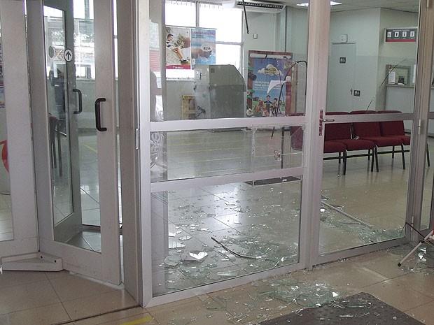 Assalto a banco em Amargosa, na Bahia (Foto: AmargosaNews.com)