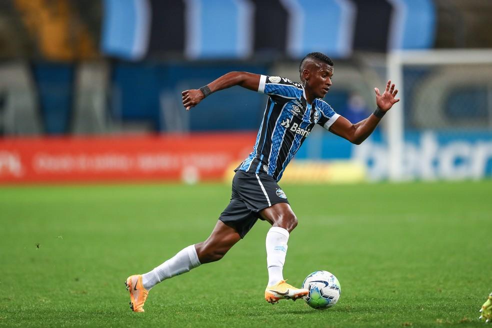 Orejuela em derrota do Grêmio — Foto: Lucas Uebel/Grêmio