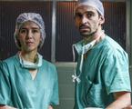Marjorie Estiano e Júlio Andrade em 'Sob pressão' | Divulgação