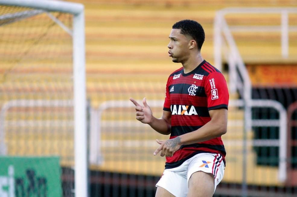Vitor Gabrie, atacante do sub-20 do Flamengo — Foto: Staff Images / Flamengo