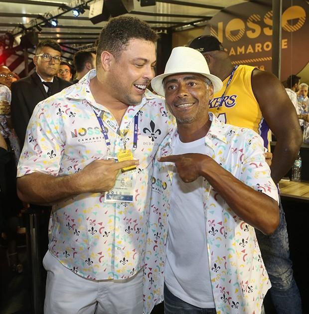 Ronaldo e Romário (Foto: RT Fotografia/ Brazil News/ CS Eventos/ Divulgação)