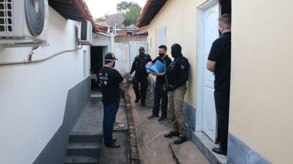 """Polícia Militar, Polícia Civil, Polícia Rodoviária Federal e Tribunal de Contas do Piauí participaram da Operação """"CNPJ Premiado"""" — Foto: Reprodução/MPPI"""
