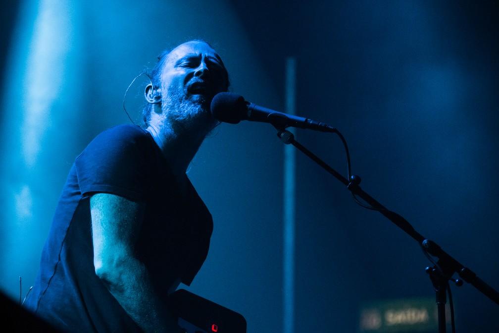 O vocalista Thom Yorke durante o show na noite de sexta. (Foto: Divulgação/Tuiki Borges)