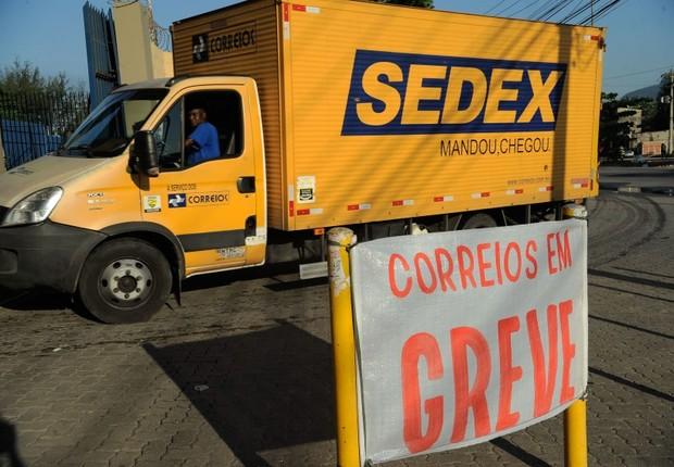 Os trabalhadores dos Correios entram em greve (Foto: Fernando Frazão/Agência Brasil)