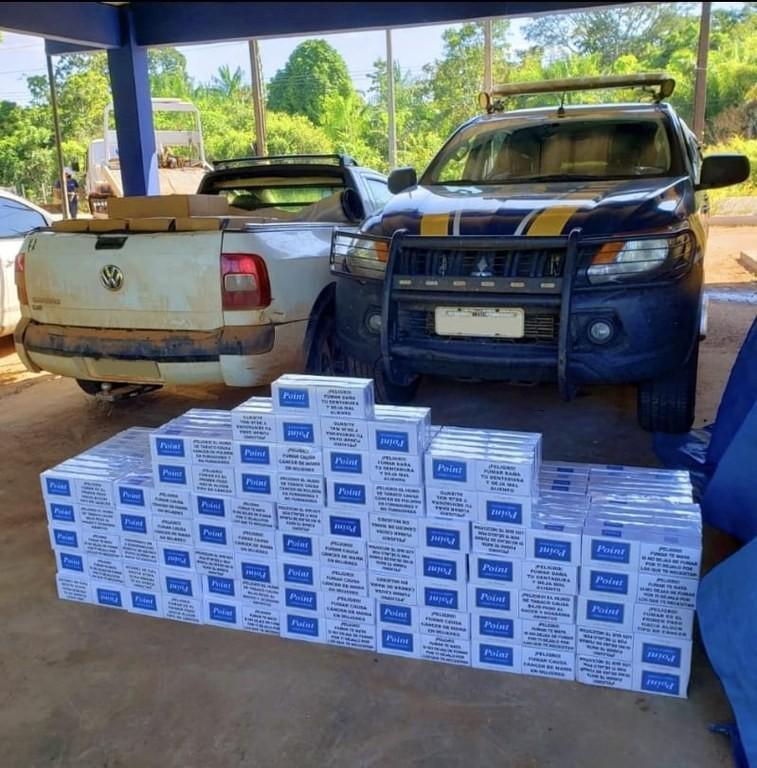 Homem é preso com mais de 10 mil maços de cigarros contrabandeados em rodovia do Acre