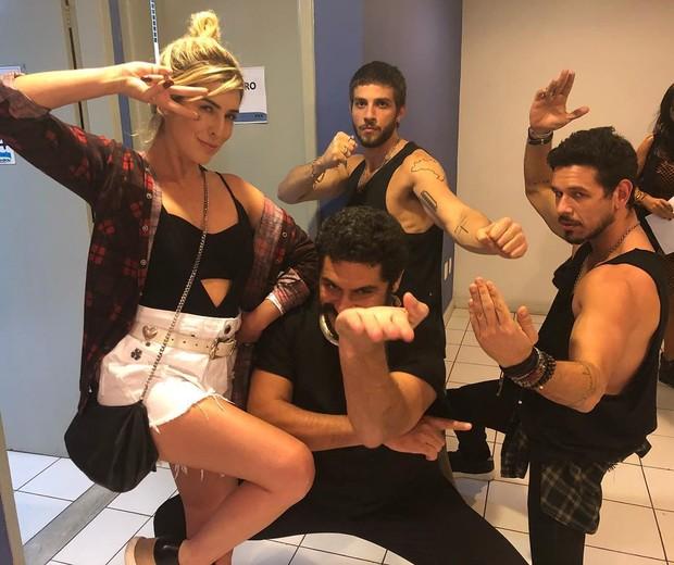 Fe Paes Leme, Criolo, Chay Suede e João Vicente (Foto: Reprodução/Instagram)