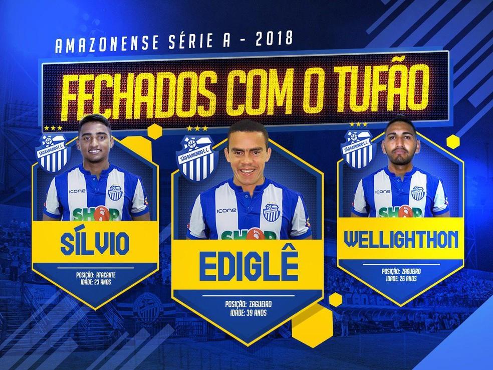 Clube fechou com seis atletas no total (Foto: Divulgação/São Raimundo)