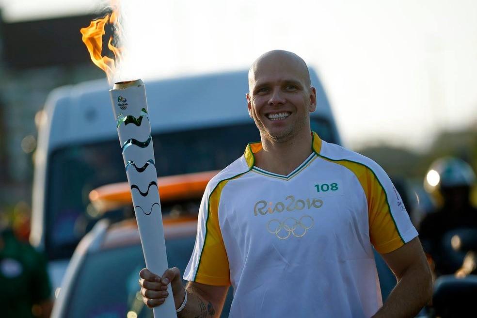 Fernando Scherer, o Xuxa, tem duas medalhas de bronze em Olimpíadas — Foto: André Mourão/Rio 2016