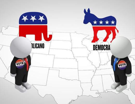 Resultado de imagem para Imagem para a campanha eleitora nos EUA
