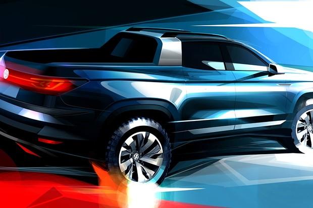 Desenho da futura picape Volkswagen (Foto: Divulgação)