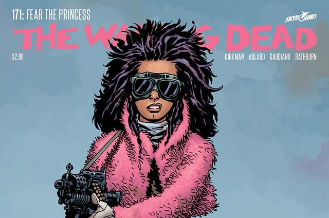 Princesa na capa da HQ de 'The walking dead' (Foto: Reprodução)