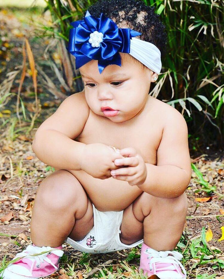 A pequena Pérola Victoria, que hoje já está com 2 anos (Foto: Reprodução/Instagram)