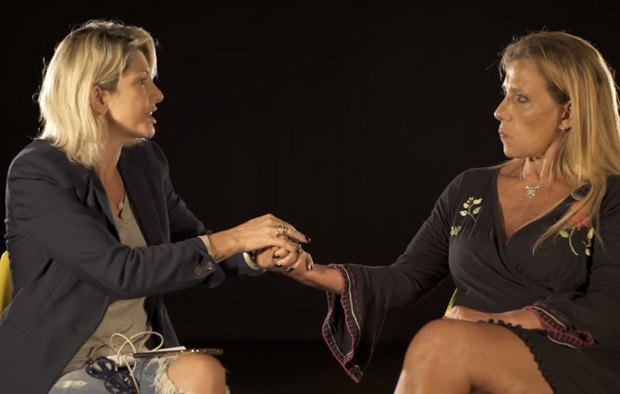 Antonia Fontenelle e Rita Cadillac (Foto: Reprodução/YouTube)