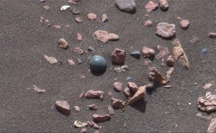 'Bola de canhão' na superfície de Marte?