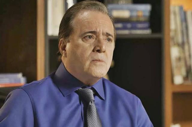 Tony Ramos, o Olavo de 'O Sétimo Guardião' (Foto: TV Globo)