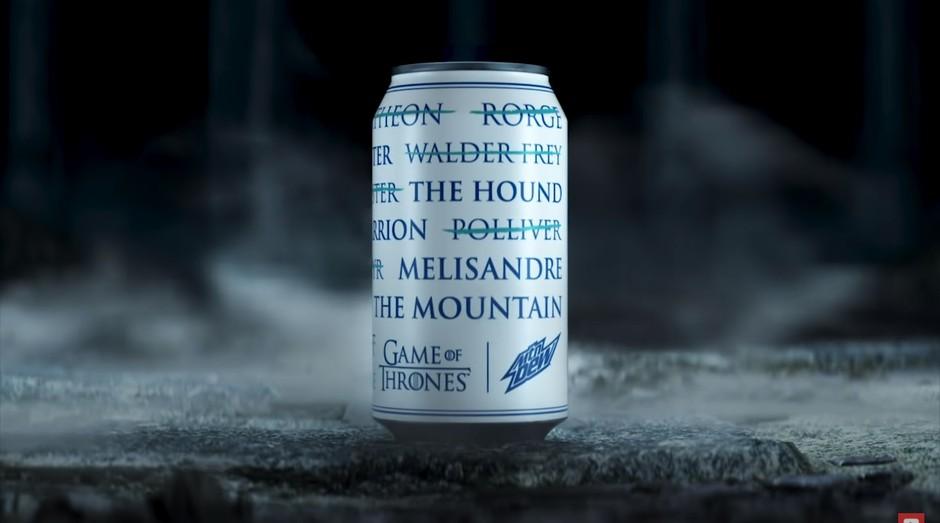 Lata promocional da Mountain Dew mostra mortes de Game of Thrones (Foto: Reprodução)