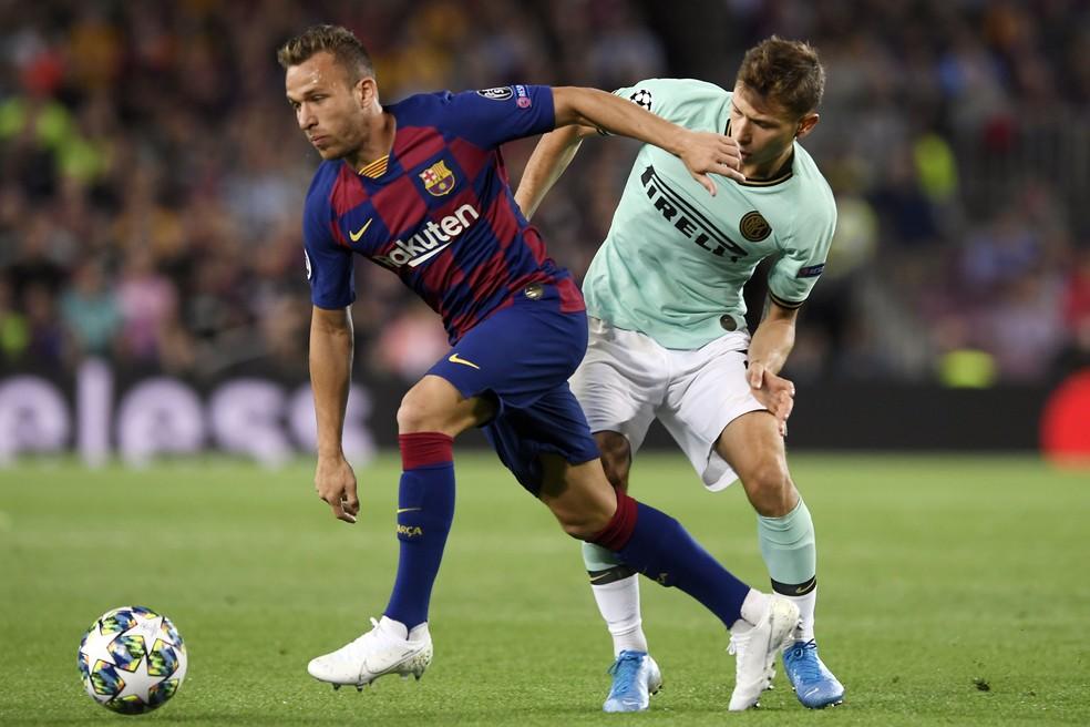 Arthur está na mira de outros clubes, como a Inter de MIlão — Foto: AFP