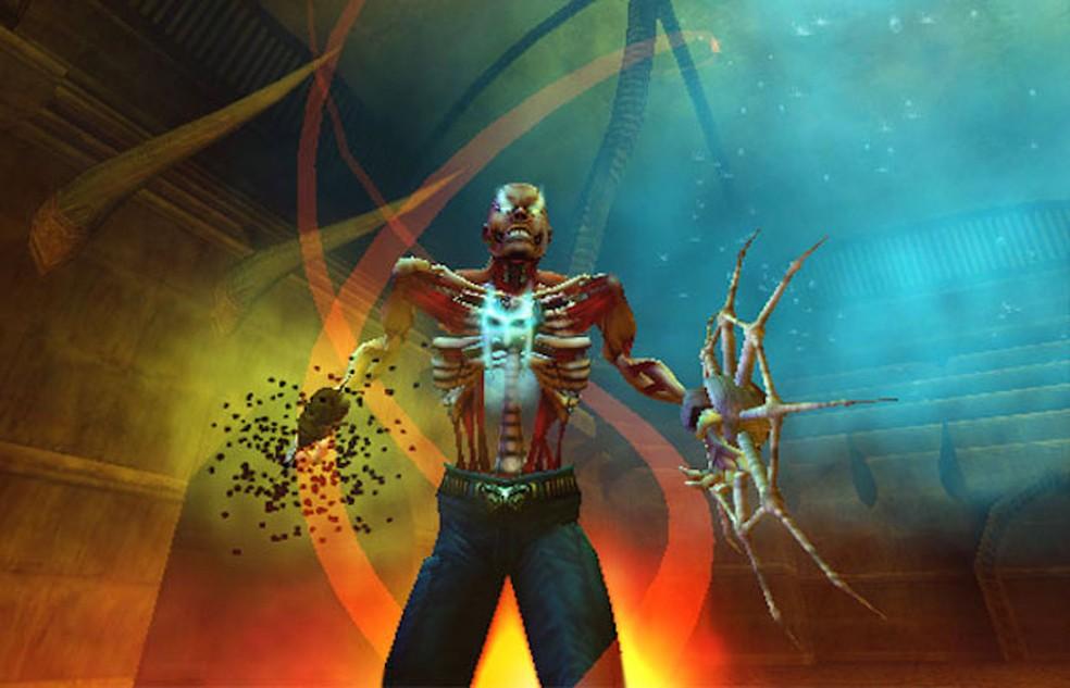 Shadow Man 2econd Coming tentou usar lápides para anunciar o game (Foto: Divulgação/Acclaim)